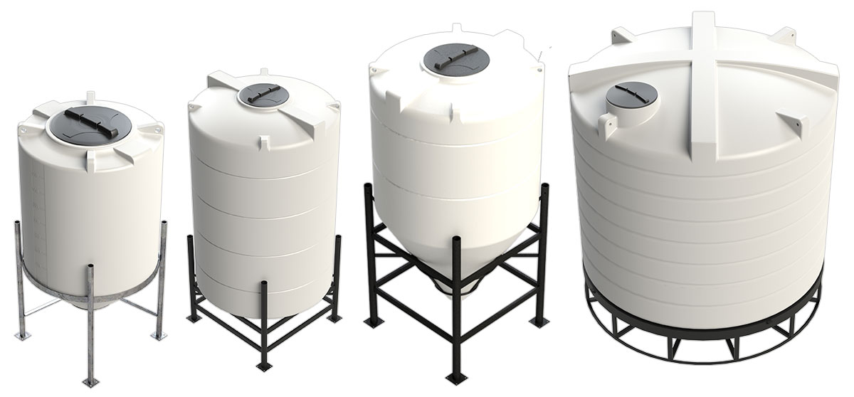 Selection of cone tanks from Enduratank