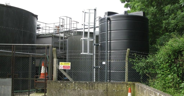 Large plastic chemical tanks